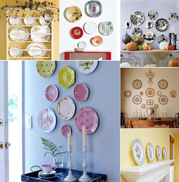 decorative-plate-on-wall-collage