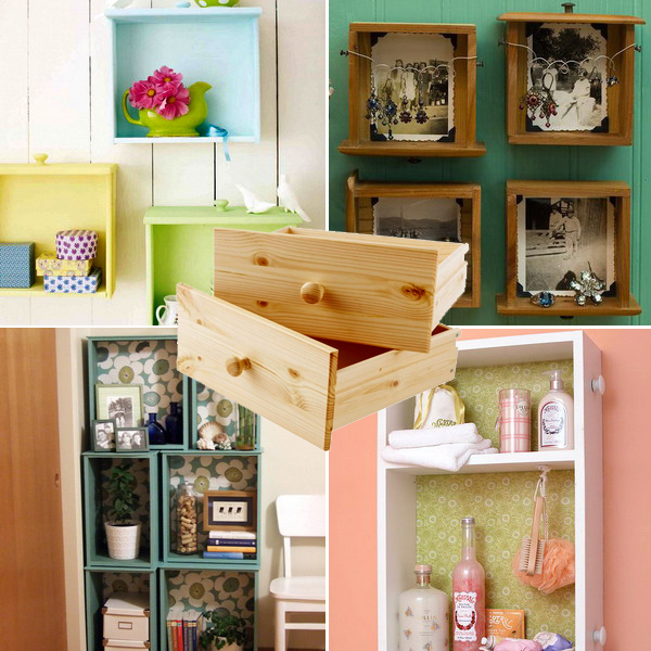 shelves-from-recycled-drawers