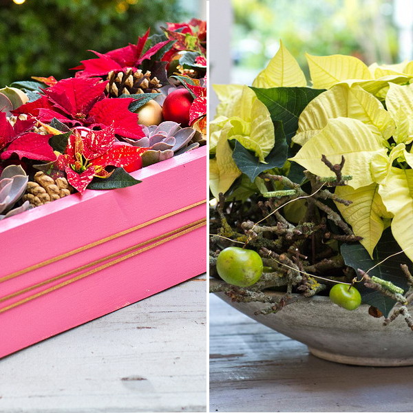diy-christmas-poinsettia-centerpiece