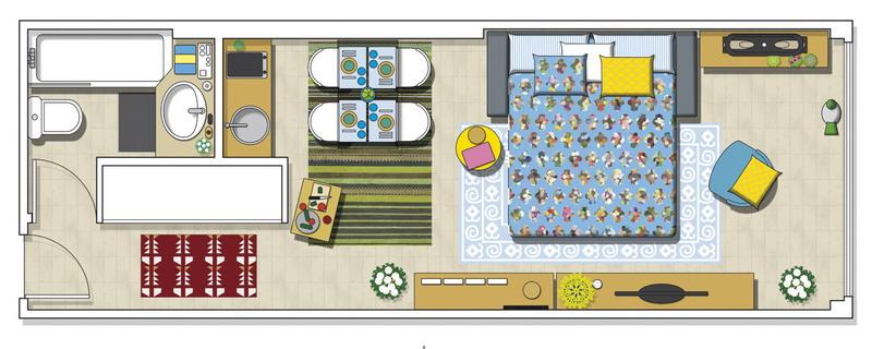 tiny-narrow-studio-apartment-30-sqm-plan