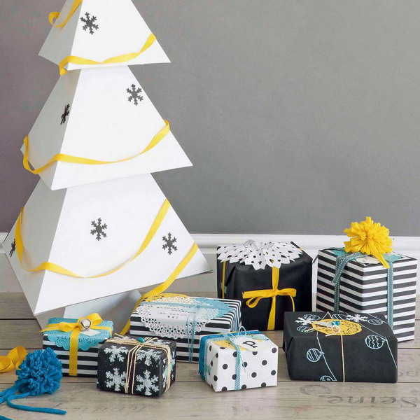 scandinavian-gift-wrapping-and-christmas-tree-made-of-paper