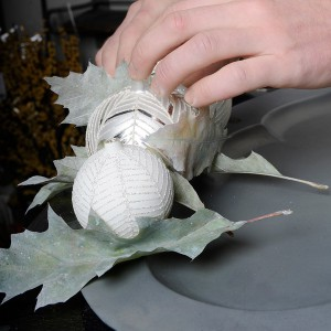 white-silver-christmas-floral-centerpiece-step2-3