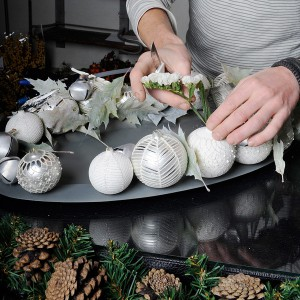 white-silver-christmas-floral-centerpiece-step5-2