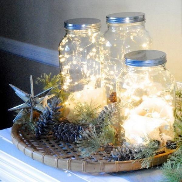 Светлячки за стеклом: светильник из гирлянды в банке, бутылке или вазе |  Дизайн-Ремонт.инфо. Фото интерьеров. Идеи для дома