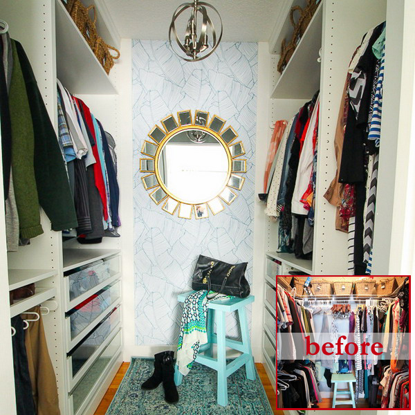 closet-makeover-with-ikea-pax-and-wallpaper