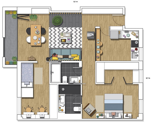 contemporary-spanish-apartment-70sqm-plan