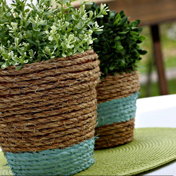 diy-5-flower-pots-decor-from-rope3