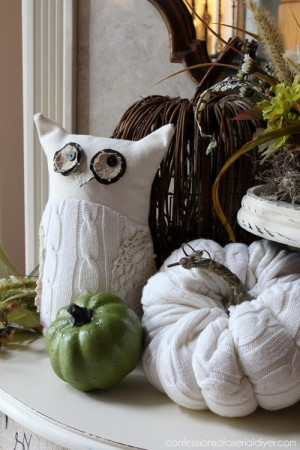 diy-owl-and-pumpkin-from-old-white-sweater1