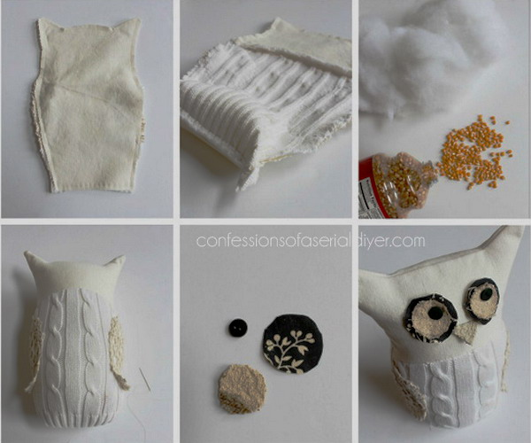 diy-owl-from-old-white-sweater2