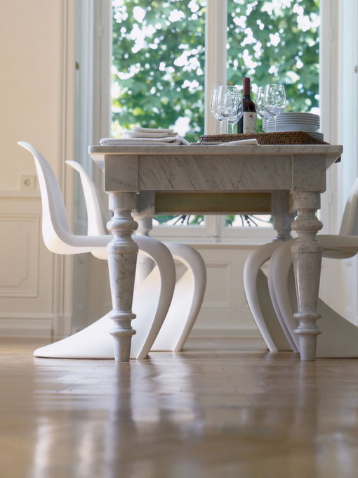 how-to-match-antique-table-and-designer-chairs5
