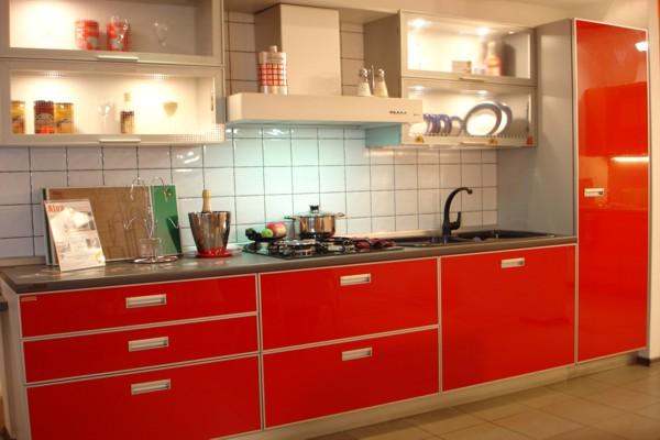 черно красные кухни фото