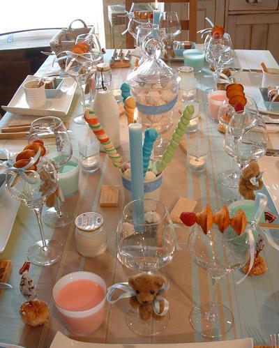 Украшение стола на день крестин