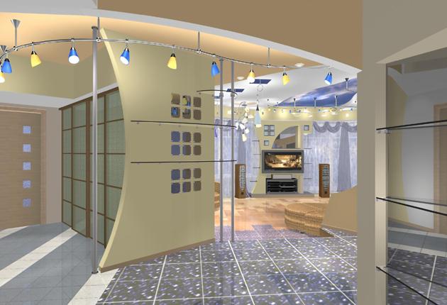 Дизайн интерьер студии-кухни