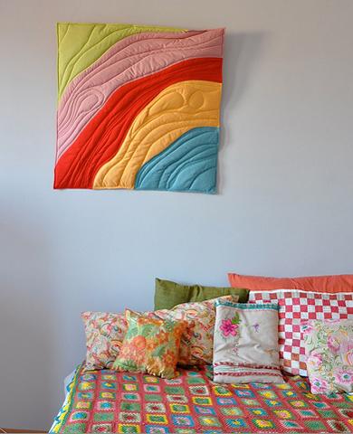 Назад в будущее: украшаем стены тканью - 35 творческих идей