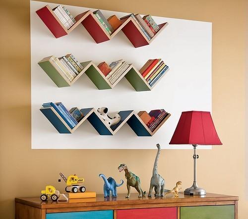 Необычные полки для книг своими руками
