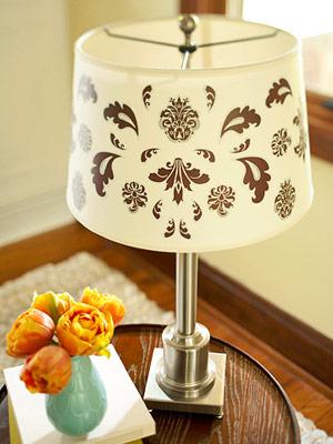 Как обновить настольную лампу своими руками: 37 идей для абажура.