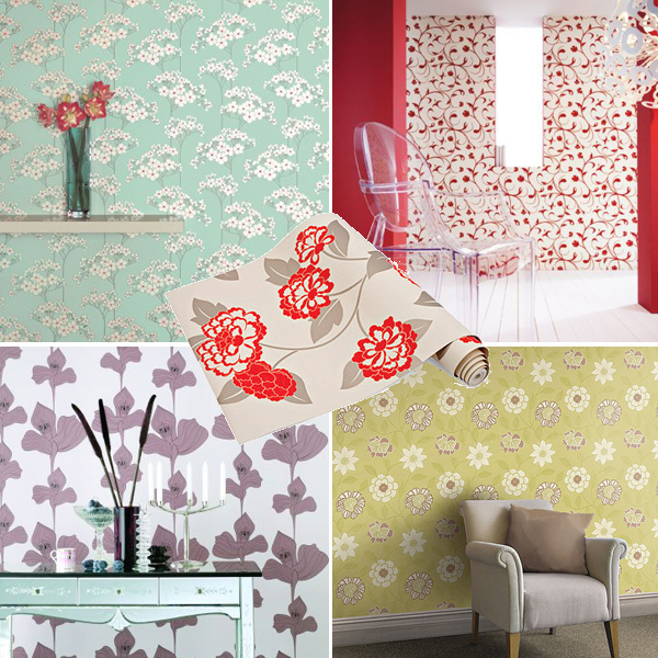 flowers-pattern-wallpaper-contemporary