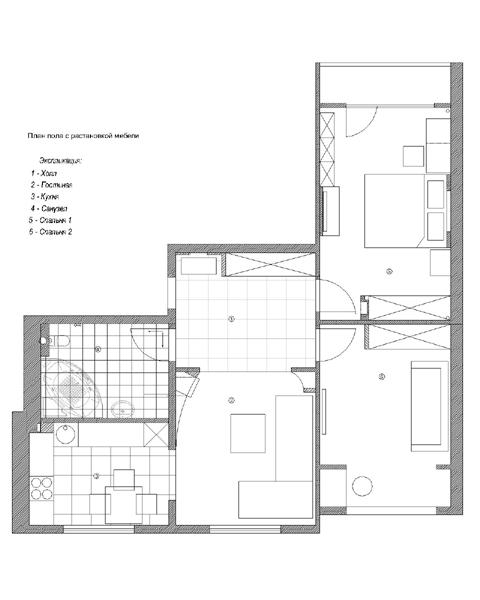 Перепланировка Квартира 82 квм