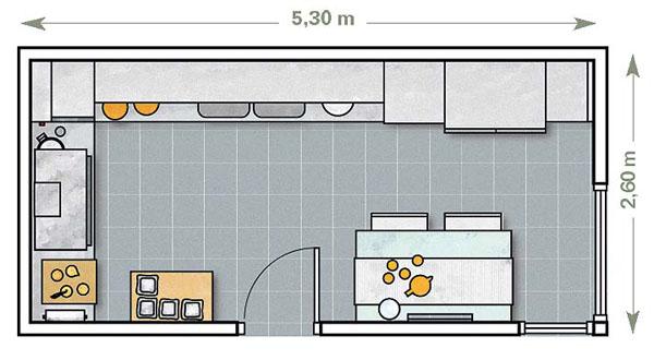 Как расставить мебель в кухне 12 метров