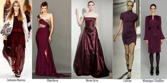color-wine-dresses-designer-fashion-2011
