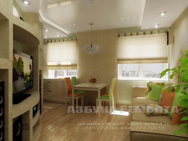 Дизайн 3 комнатной хрущевки - Дизайн 2 х комнатной хрущевки.