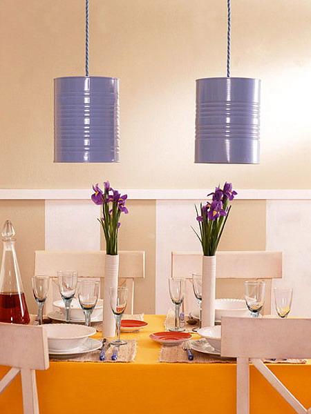 Подвесные светильники своими руками для кухни