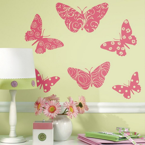 butterfly-pattern-ideas-on-wall