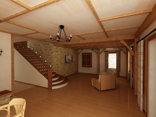 Дизайн второго этажа в коттедже