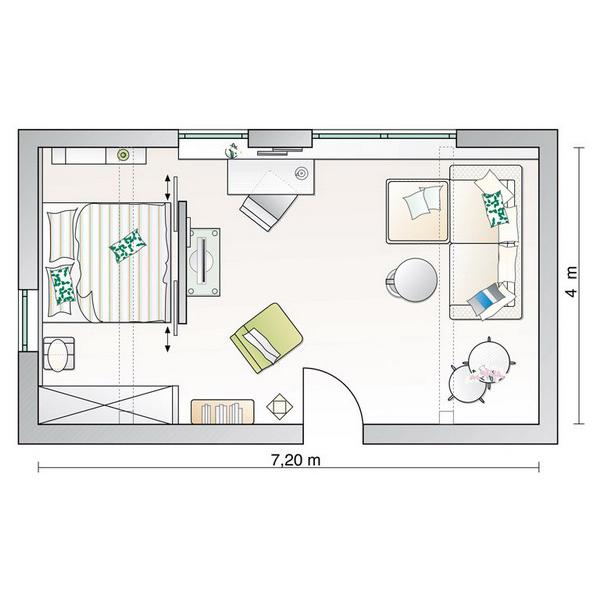 Удобная планировка спальни