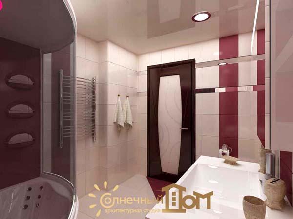 Ванна 3 кв.м дизайн фото с душевой кабиной