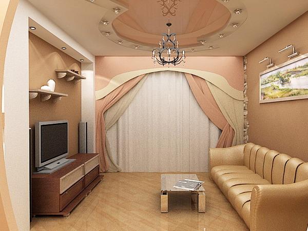 Интерьер для зала в двухкомнатной квартире