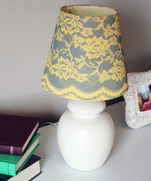 Как обновить настольную лампу своими руками фото
