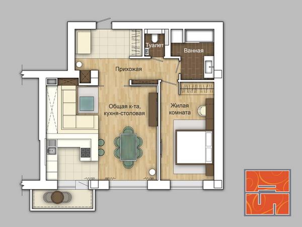 Квартира - изначально 2х