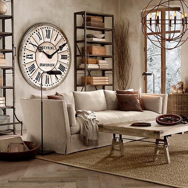 vintage-wall-clock-in-interior