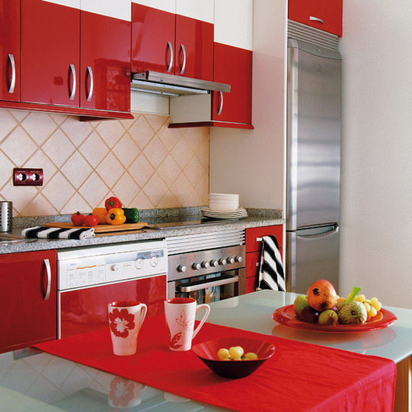 kitchen-red