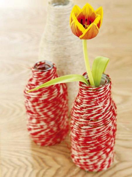 Как сделать высокую вазу в домашних условиях