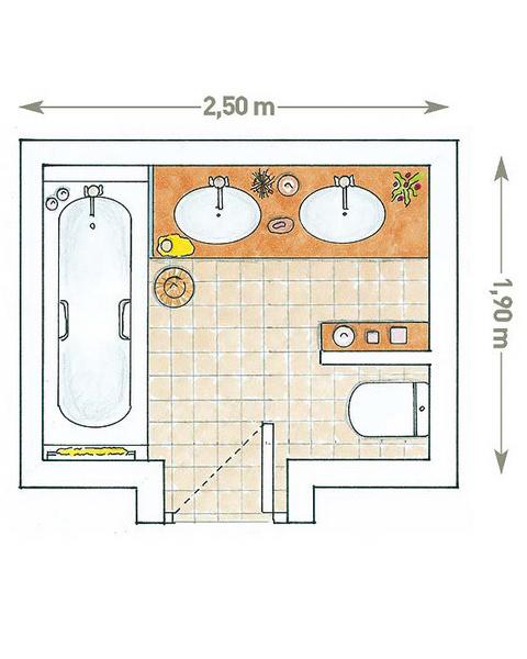 Дизайн ванной комнаты совмещенной с туалетом 7 кв.м