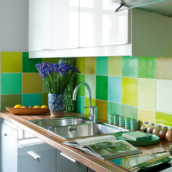 multicolor-tile-backsplash-kitchen