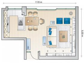 open-space-3in1-on-35sqm-plan