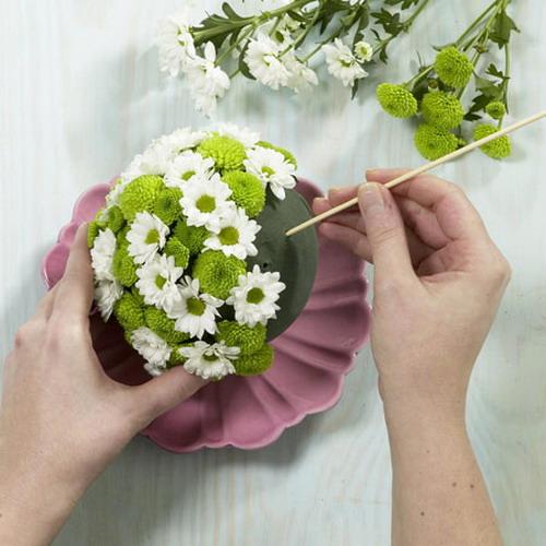 Как делать букет из цветов