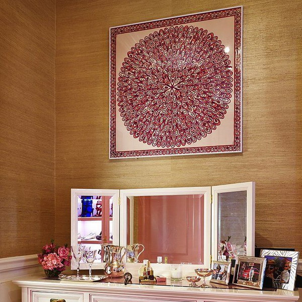 framed-silk-scarves-as-wall-art