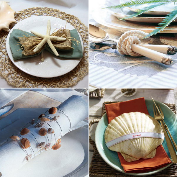 coastal-decor-on-plates-and-napkin-rings