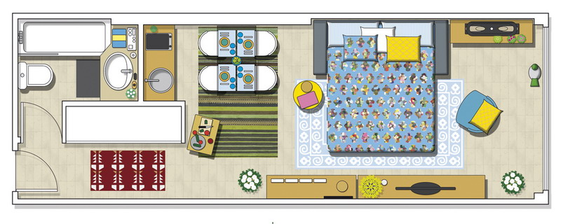 tiny-narrow-studio-apartment-30-sqm-plan