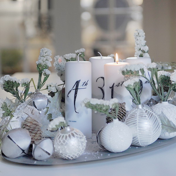 white-silver-christmas-floral-centerpiece