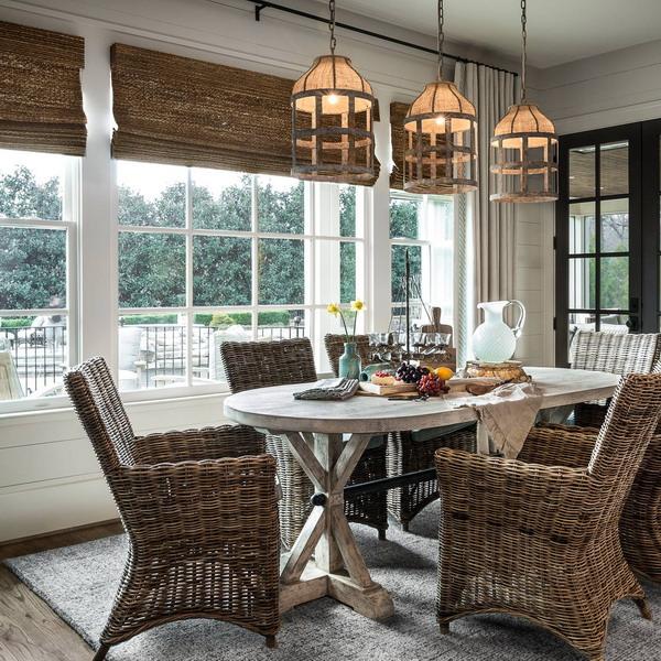 Coastal Farmhouse Style Dining Room  Home Bunch Interior
