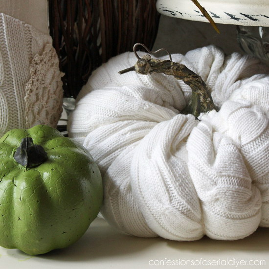 diy-pumpkin-from-old-white-sweater