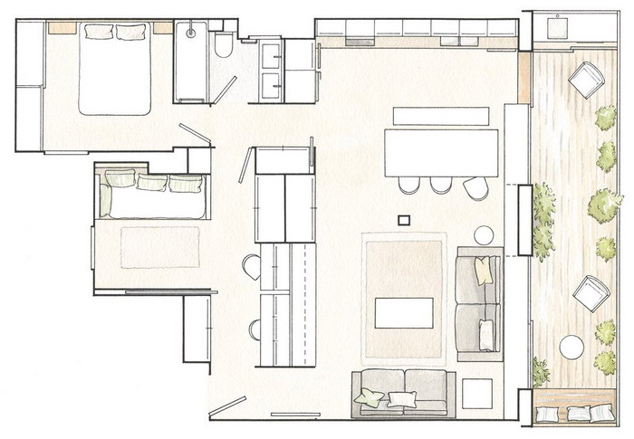 smart-zoning-ideas-in-one-spanish-apartment-plan