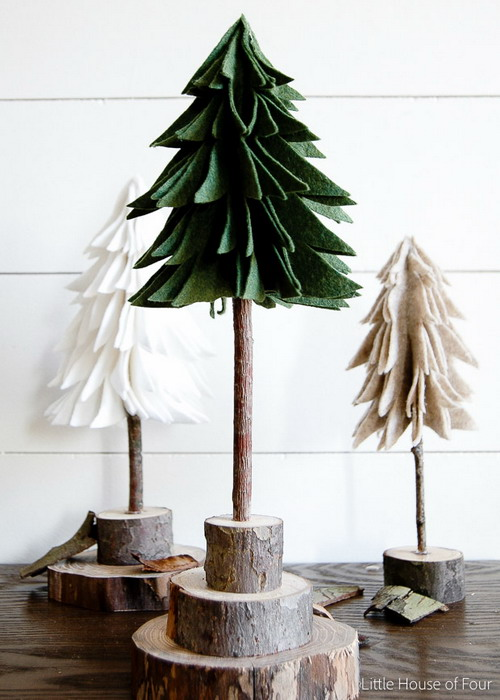 diy-tabletop-christmas-trees-from-felt1
