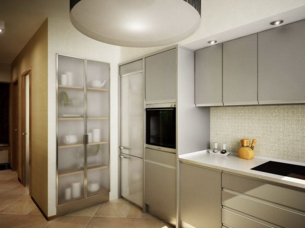 Как совместить кухню с коридором дизайн