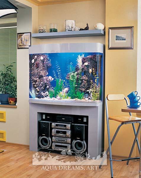 Дизайн комнатного аквариума